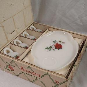 Vintage Rosecrest 8 pc Snack Set